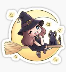 Just A Witch and Her Cat Sticker