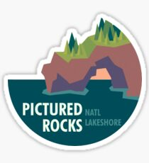 Pictured Rocks National Lakeshore Cutout Sticker