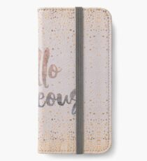 Hello Gorgeous Lilac Periwinkle Rose Gold Confetti iPhone Wallet/Case/Skin