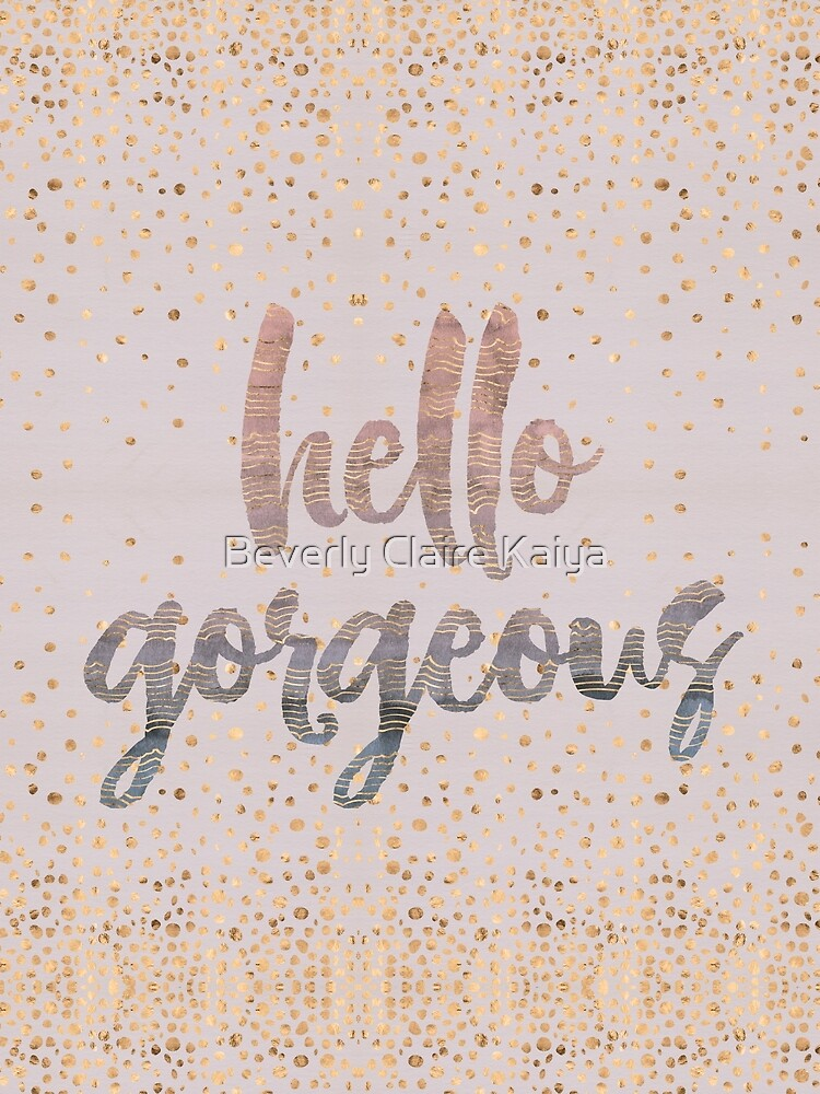 Hello Gorgeous Lilac Periwinkle Rose Gold Confetti by beverlyclaire