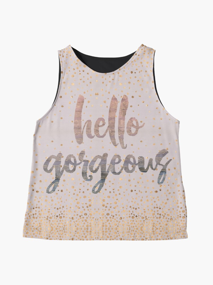 Alternate view of Hello Gorgeous Lilac Periwinkle Rose Gold Confetti Sleeveless Top