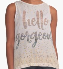 Hello Gorgeous Lilac Periwinkle Rose Gold Confetti Sleeveless Top