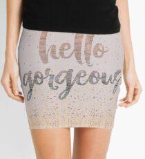 Hello Gorgeous Lilac Periwinkle Rose Gold Confetti Mini Skirt