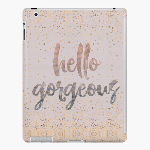 Hello Gorgeous Lilac Periwinkle Rose Gold Confetti iPad Snap Case