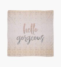 Hello Gorgeous Lilac Periwinkle Rose Gold Confetti Scarf