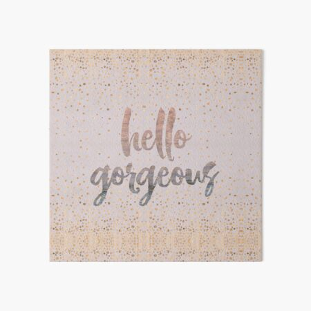 Hello Gorgeous Lilac Periwinkle Rose Gold Confetti Art Board Print
