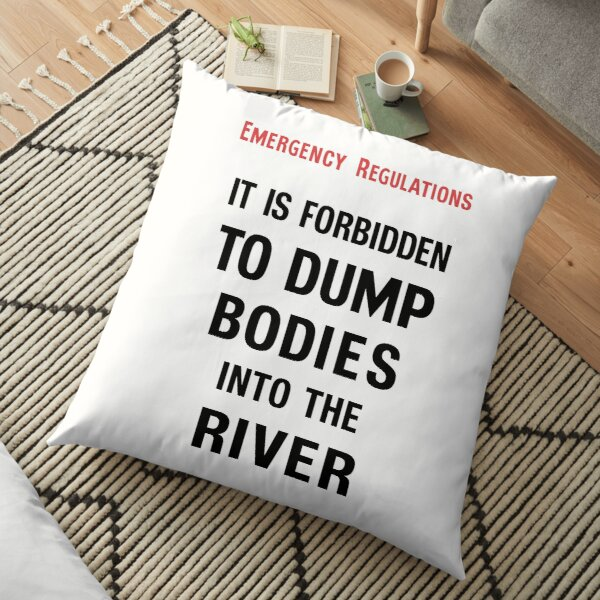 BODIES TEXT ONLY Floor Pillow