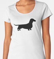 Dachshund Silhouette(s) Women's Premium T-Shirt