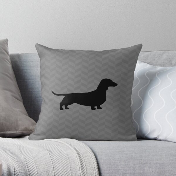 Dackel Hund Silhouette (n) | Glatt beschichteter Wiener Hund Dekokissen