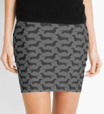 Dachshund Silhouette(s) Mini Skirt