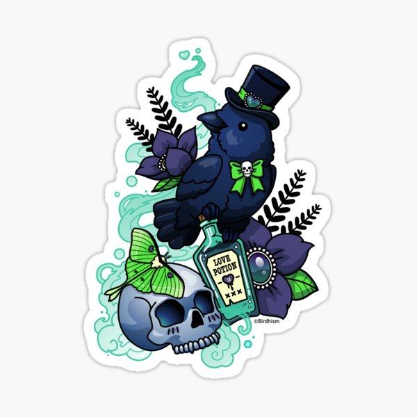 Chubby Mr. Raven Sticker