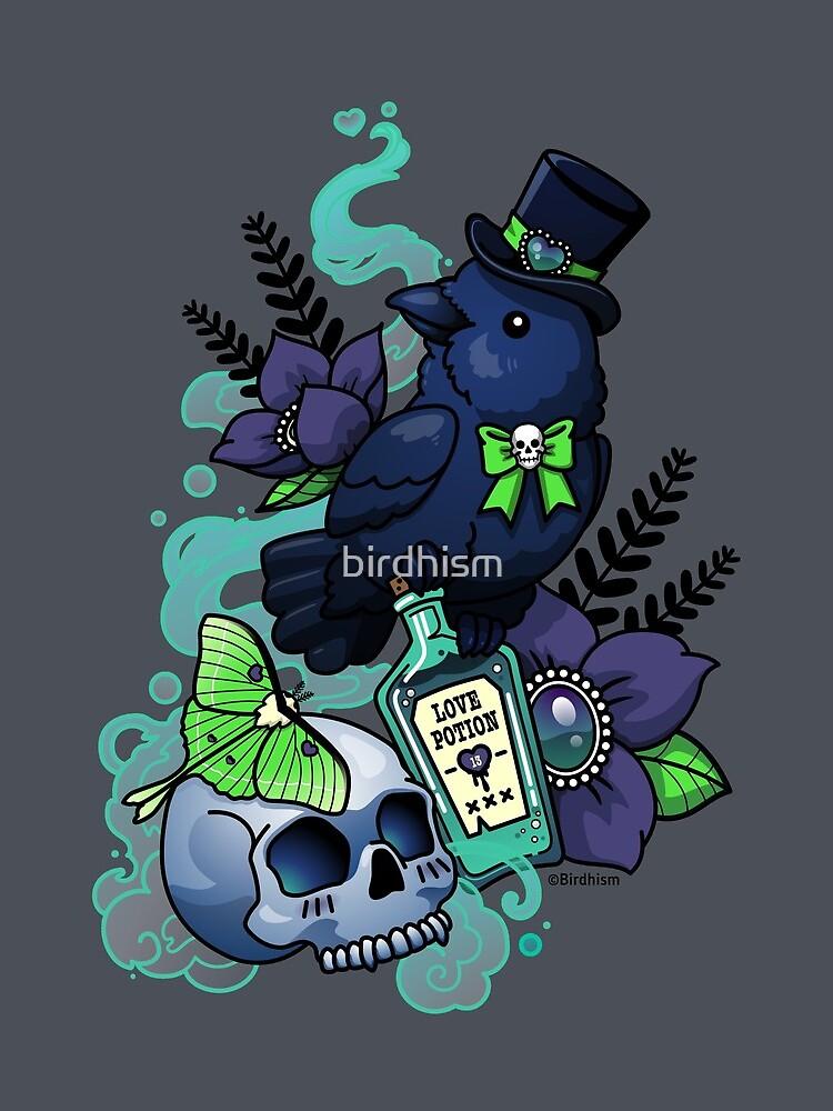 Chubby Mr. Raven by birdhism