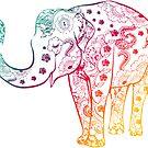 «Warm Elephant Mandala» de adjsr