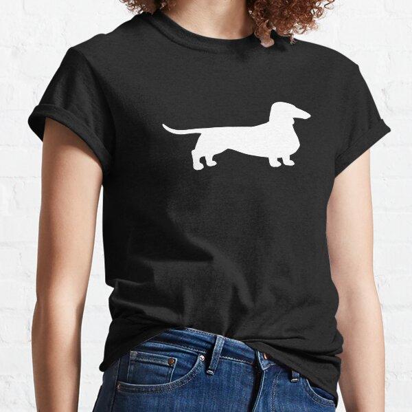 Silhouette (s) de teckel | Chien Wiener | Doxie à revêtement lisse T-shirt classique