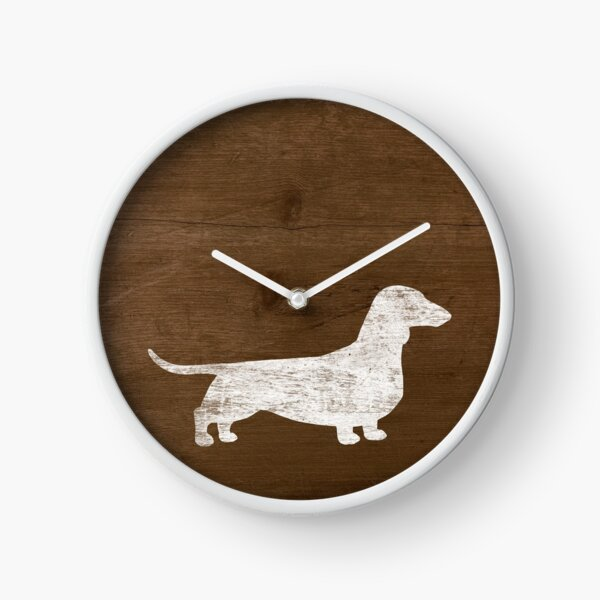 Dachshund Silhouette(s) | Wiener Dog | Smooth Coated Doxie Clock