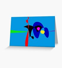 Abstract Expressionism Simple Digital Art Greeting Card