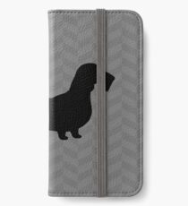 Wire Haired Dachshund Silhouette(s) iPhone Wallet/Case/Skin