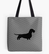 Wire Haired Dachshund Silhouette(s) Tote Bag