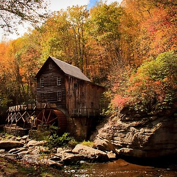 Glade Creek Grist Mill in The Fall by RoseC