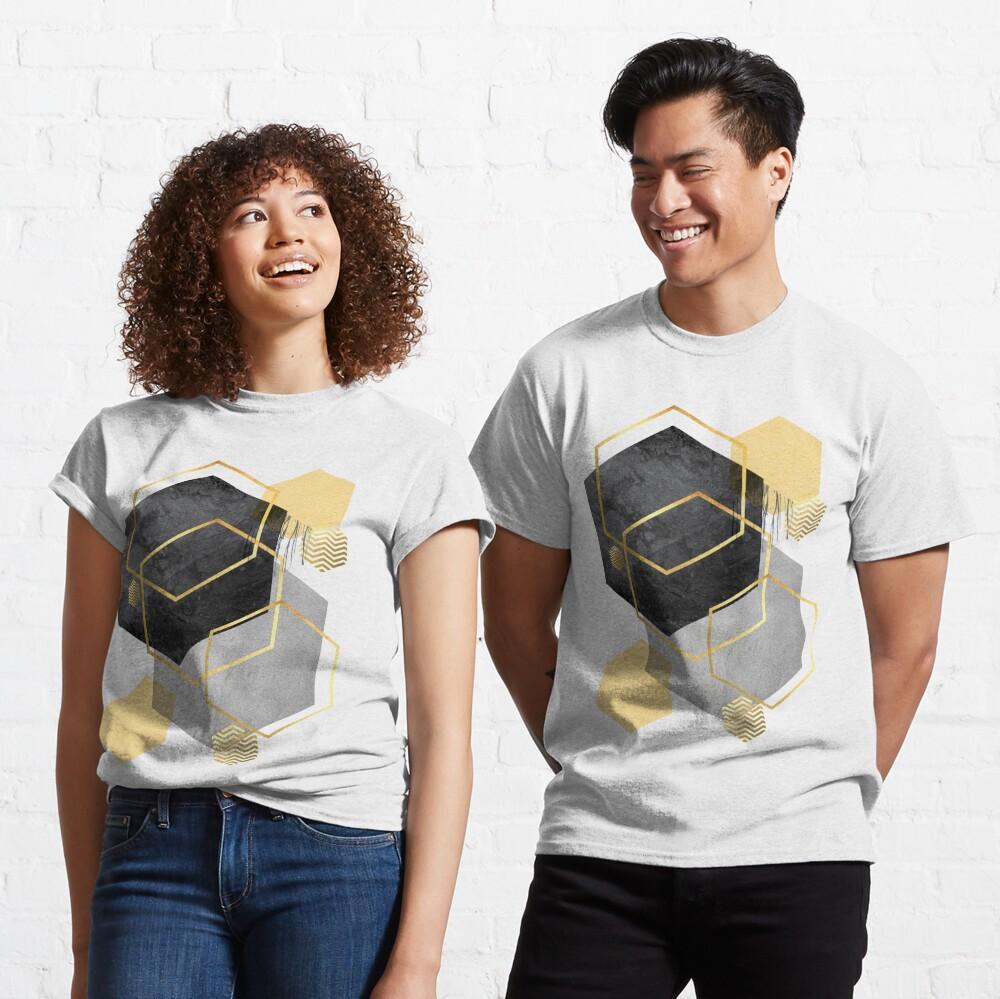 Black and Gold Geometric Classic T-Shirt