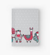 Doodle Animal Friends Pink & Grey Hardcover Journal