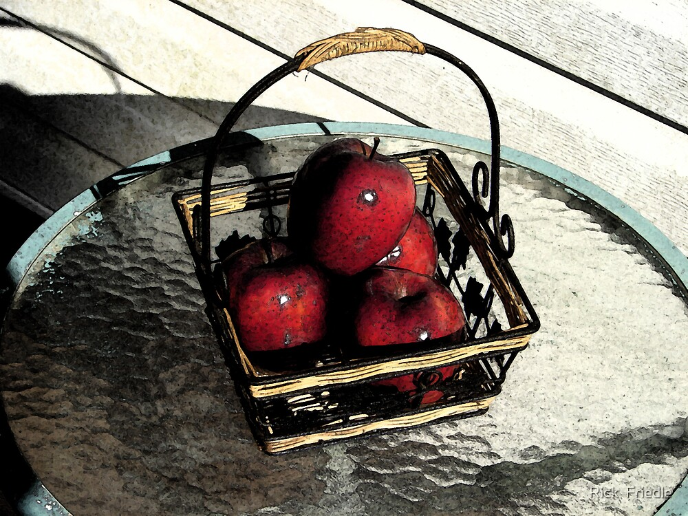 Apple Basket by Rick  Friedle