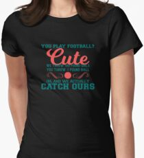 Funny Mens Cheerleading Tee Women's Fitted T-Shirt