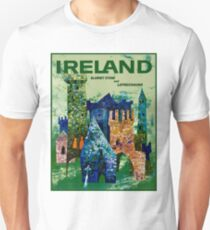 IRELAND : Vintage Travel Advertising Print T-Shirt