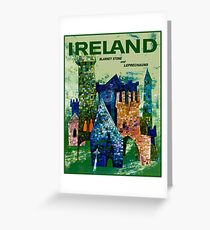IRELAND : Vintage Travel Advertising Print Greeting Card