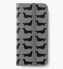 Long Haired Dachshund Silhouette iPhone Wallet/Case/Skin