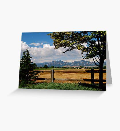 Colorado Flatirons Greeting Card
