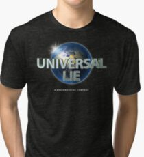 Flat Earth - Universal Lie Tri-blend T-Shirt