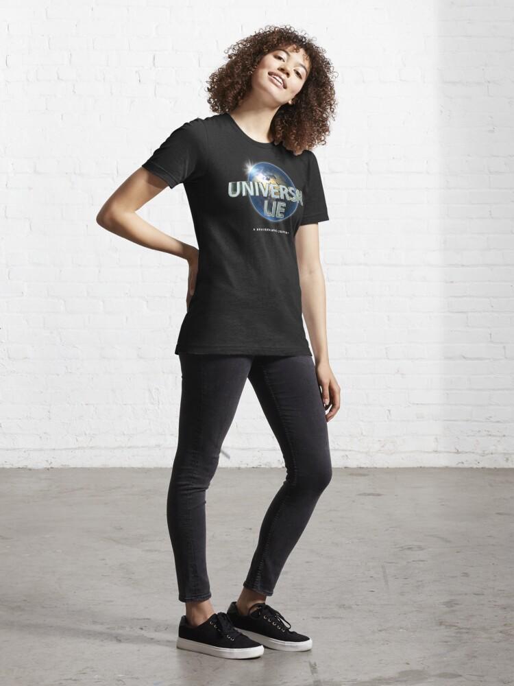 Alternate view of Flat Earth - Universal Lie Essential T-Shirt