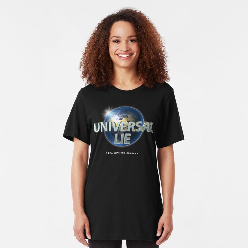 Flat Earth - Universal Lie Slim Fit T-Shirt