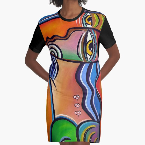 Pablo Picasso Graphic T-Shirt Dress