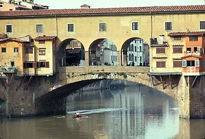 Ponte Vechio, oldest bridge in Florence by chord0