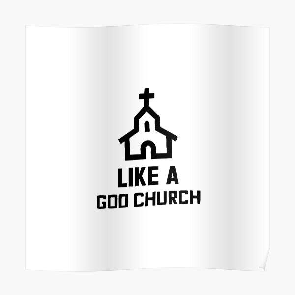 Like A God Church (BLACK) - Everyday Bro Team Ten - Jake Paulers Poster