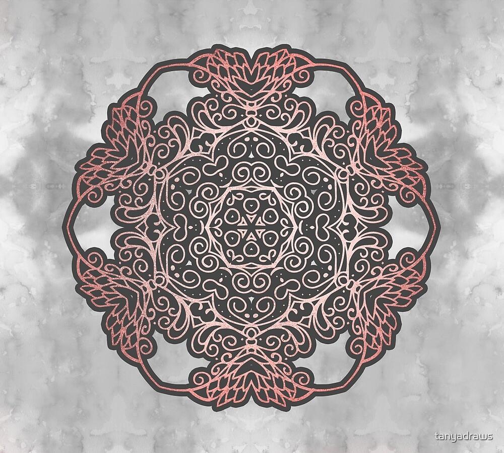 Rose Gold Mandala by tanyadraws