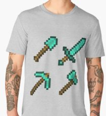 Minecraft Diamond Tools Men's Premium T-Shirt