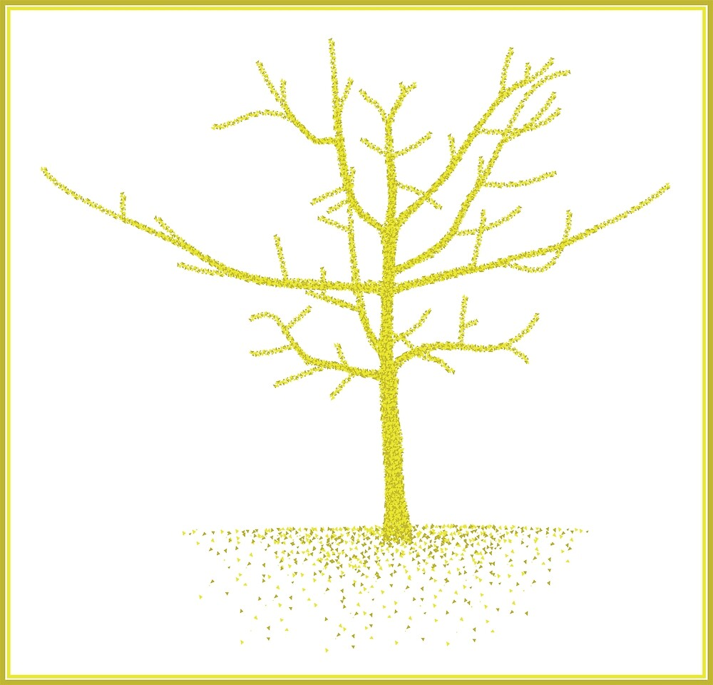 Ginkgo Tree w/ Border - Yellow\
