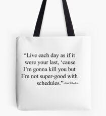Joss Whedon  Tote Bag