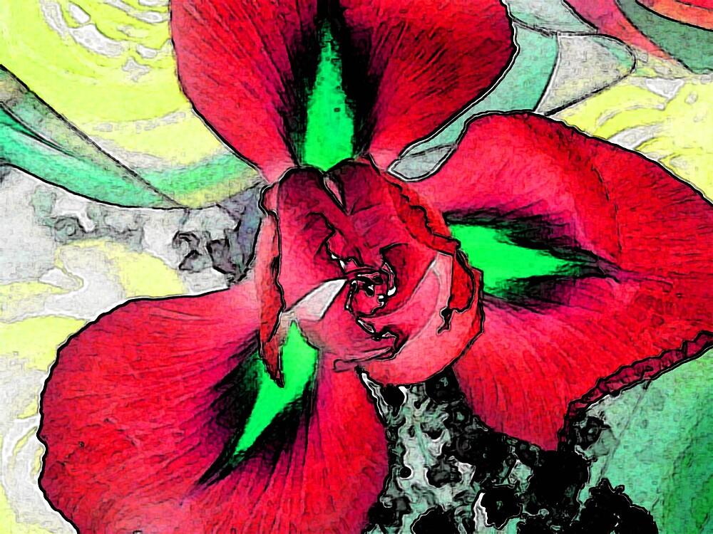 Red Iris by wysiwyg
