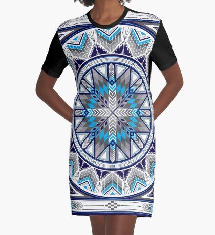 Sacred Places Blue  Graphic T-Shirt Dress