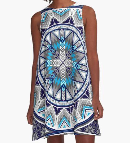 Sacred Places Blue  A-Line Dress