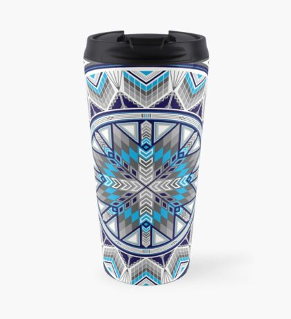 Sacred Places Blue  Travel Mug