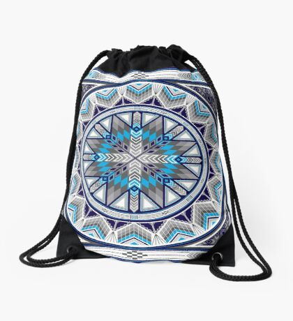 Sacred Places Blue  Drawstring Bag