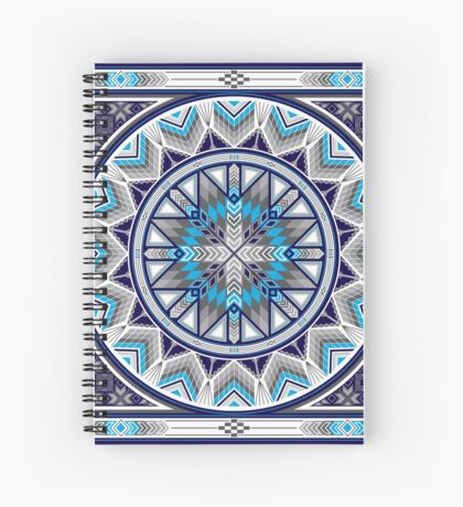 Sacred Places Blue  Spiral Notebook
