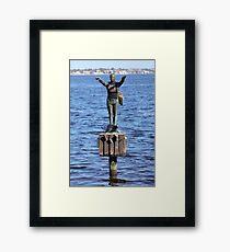 Great morning for a swim Framed Print