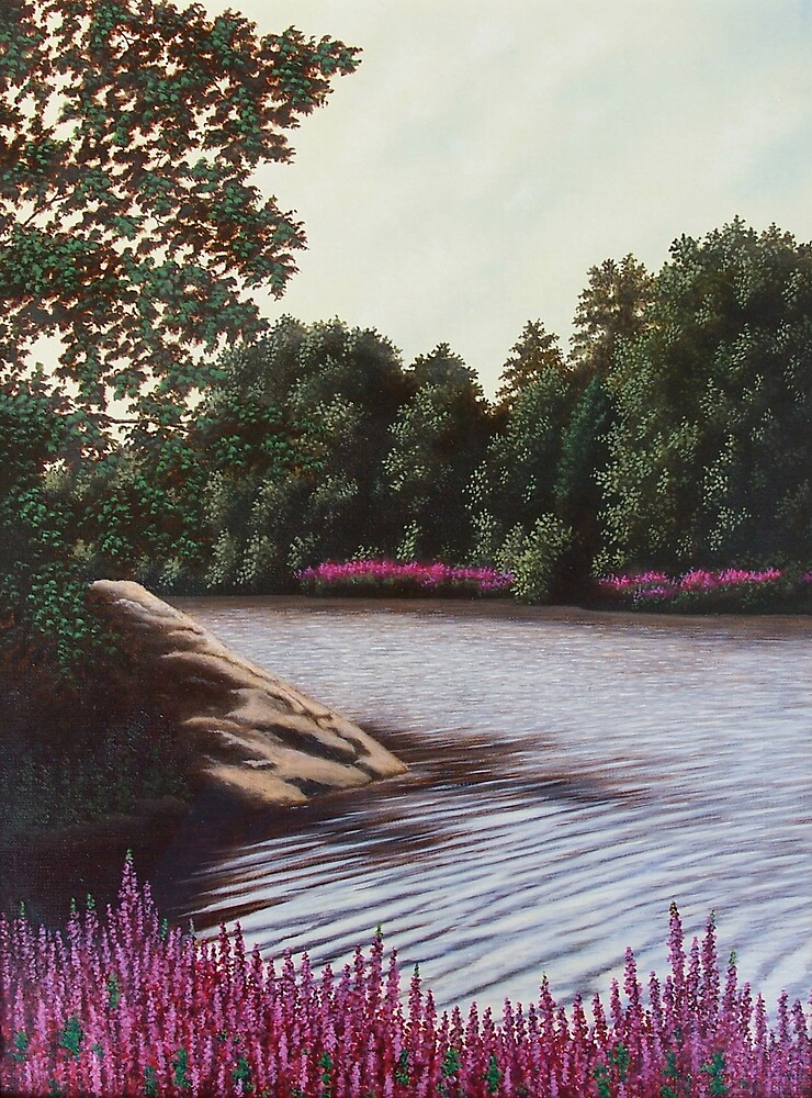 The Little River, West Newbury by Anthony Petchkis