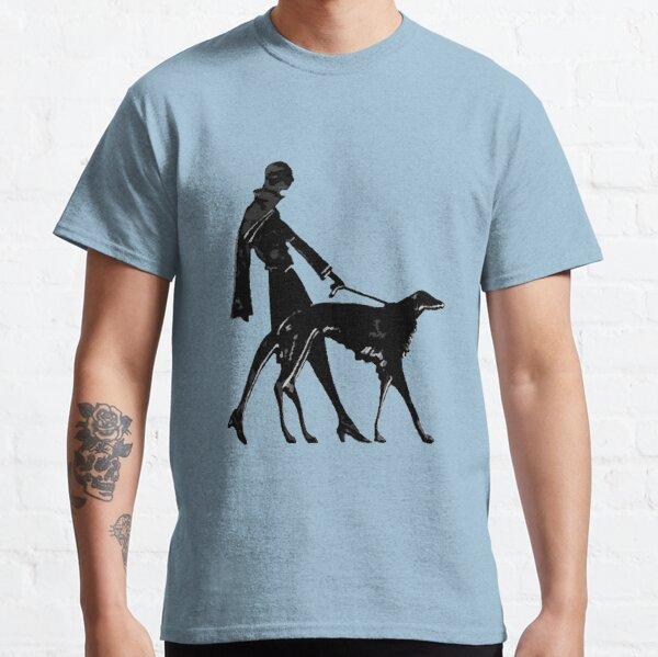 Art Deco Borzoi And Flapper Classic T-Shirt